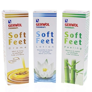 Fusspflegemittel Set - GEHWOL Set 3x Fusskraft Soft Feet, Fußcreme + Lotion + Peeling